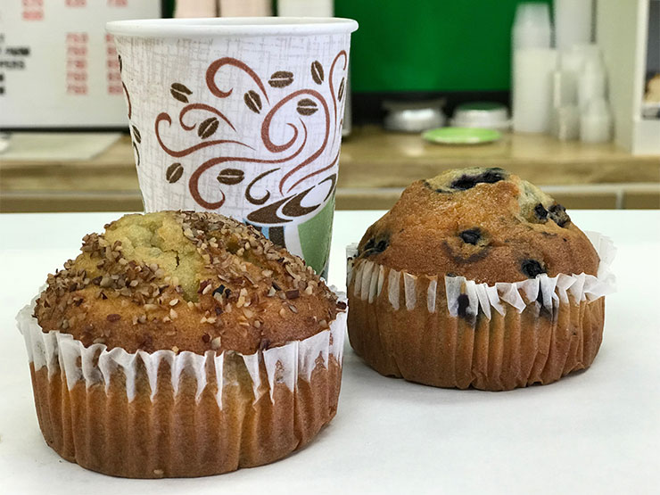 Coffee and A Fresh Hot Muffin! Hello!